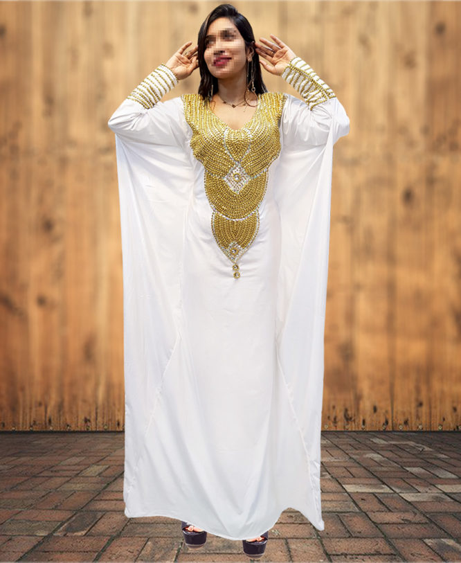 New Arrival Tall Tube Woman African Abaya Kaftan