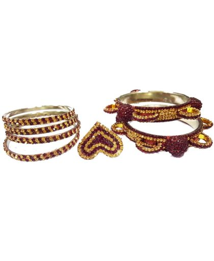 Awesome Metallic Crystal Stone Bracelet