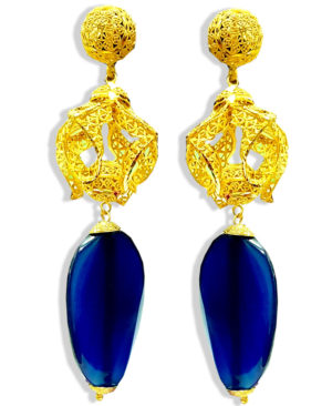 Golden Plated Premium Beads Earring