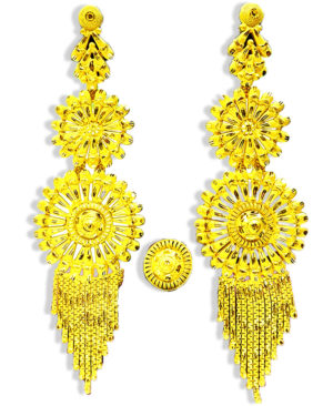 Golden Plated Traditional Earring Set