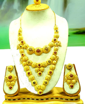Round Shape Golden Plated Necklace Set