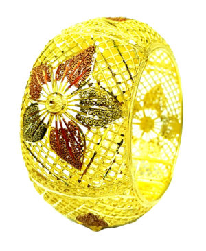 Floral Net Designs Golden Plated Bracelet
