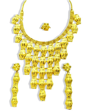 Buy Antique Maharani Golden Necklace Set
