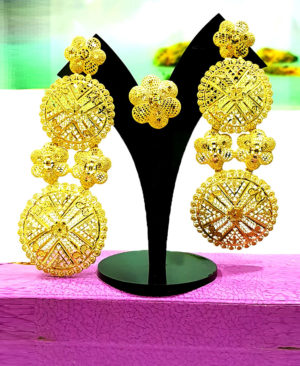 Best Designer Earring Set Golden Plated