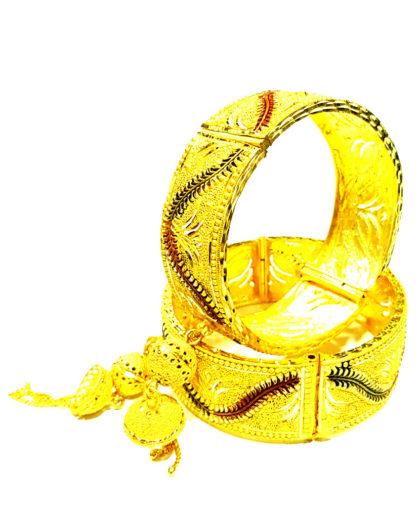 Designer Golden Plated Couple Bangle