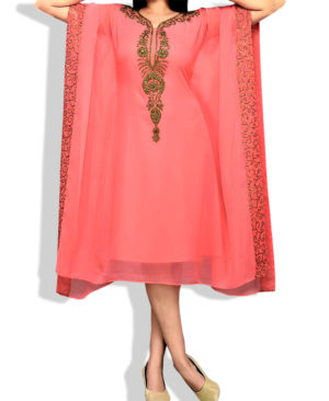 Designer Golden Work Short Georgette Kaftan
