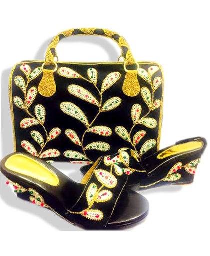 Beautiful Ladies Sandal with Matching Bag