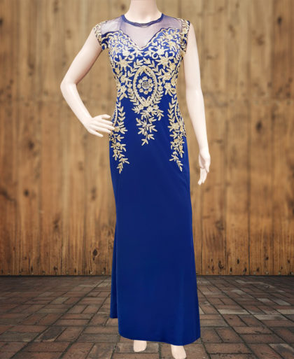Sleeveless Satin Party Wear Dress