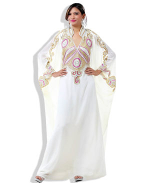African Very Fancy Kaftan Luxury Crystal Beaded