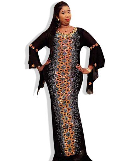 Black color Muslim Women Style kaftan