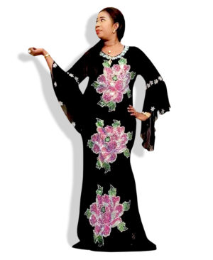 Black color Women Style kaftan