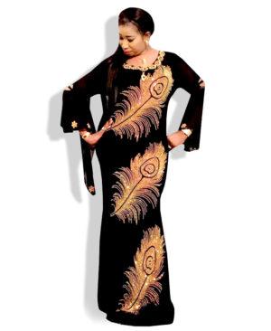 Black color african style kaftan