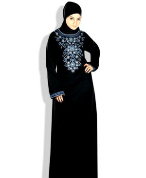 Flower Burka Islamic Dress Embroidery