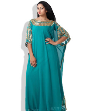 Women moroccan muslim kaftan dress