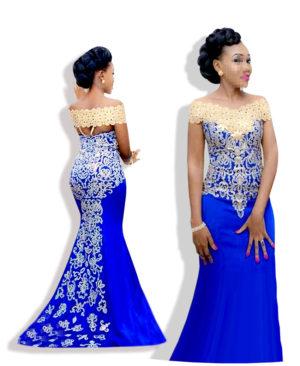 Womens Gorgeous Off Shoulder Satin Blossom Dress