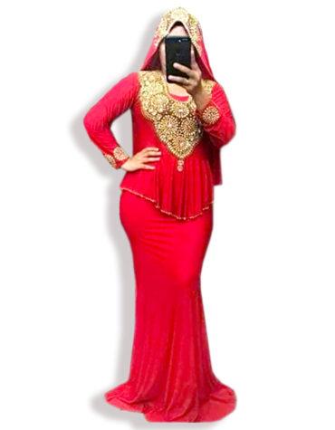 Stacy Scarf Premium Spandex Kaftan Dress