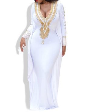 Muslim fashion kaftan ladies dress