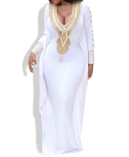 Muslim fashion kaftan ladies dress
