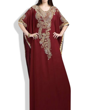 Beautiful Kaftan Dress Crystal Maxi Dress