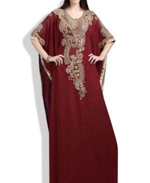 Beautiful Kaftan Dress Crystal Maxi Dress