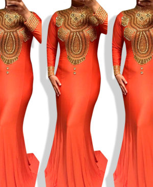 Premium Spandex Kaftan Quality Dress