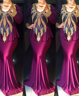Morocon Style Fancy Spandex Kaftan Dress