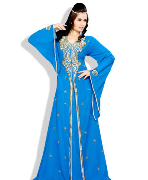 Style Moroccan Farasha Abaya Dress Long Caftan