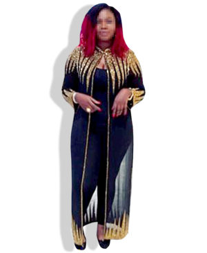 Muslim Women long Golden long dress