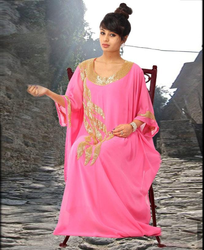 Golden Beaded Stylish Fashion Womens Kaftan