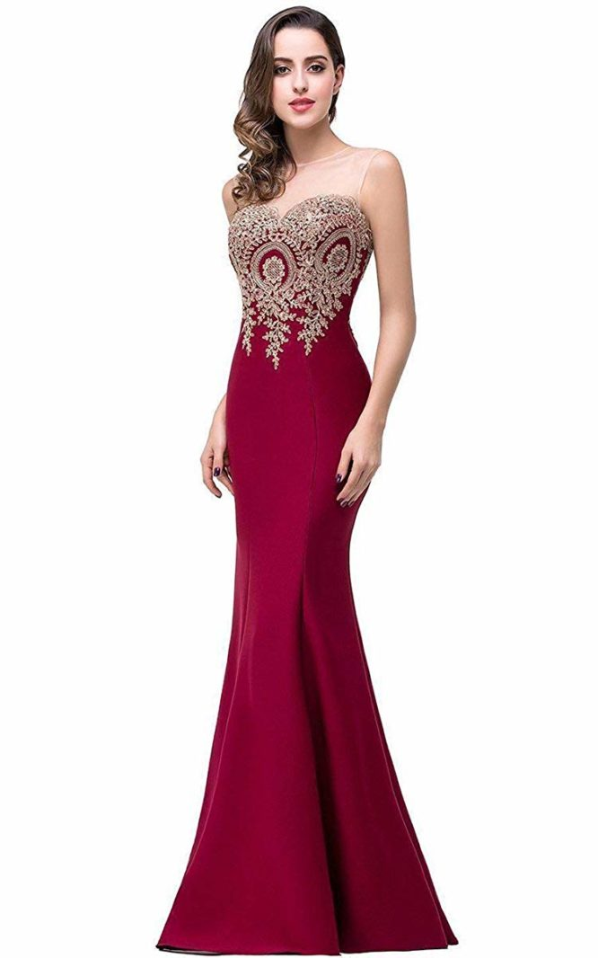 Mermaid Evening Dress Women Formal Long Prom Dress