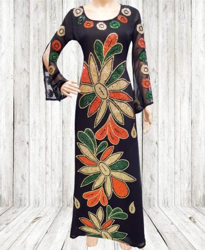 Dubai kaftan Beaded Million Diamond Sparkling Stone dress
