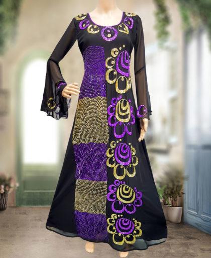 African Women Style Floor Length Chiffon Kaftan