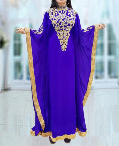 African Boutique Kaftan Dresses for Women - Long Sleeve Formal Maxi Gown Evening African Dress