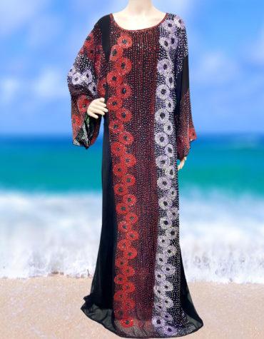 Muslim Women Style Stone Work Arabian Elegent kaftan