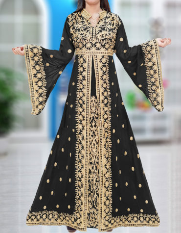 Exclusive Dubai Party Wear Kaftan Embroidery Wedding Gown