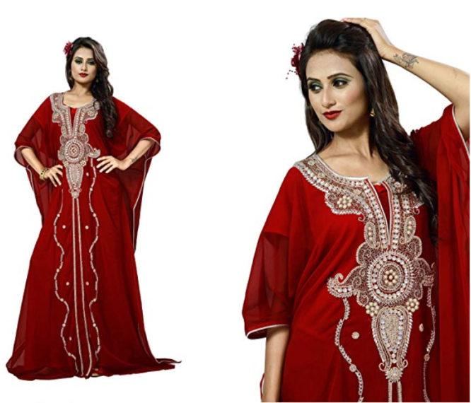 Women's Dubai Style Kaftan Caftan Farasha Jalabiya Abaya Long Maxi Dress