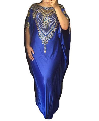 Morrocon Golden Beads Party Wear Lycra Kaftan