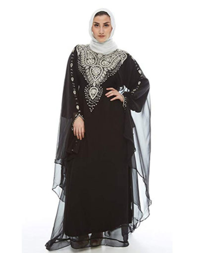 Menal Kaftan for Women-Long Sleeve Maxi Dress