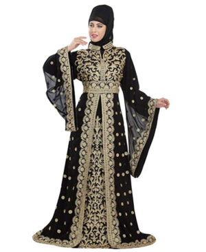 Exclusive Dubai Party Wear Kaftan Moroccan Wedding Gown