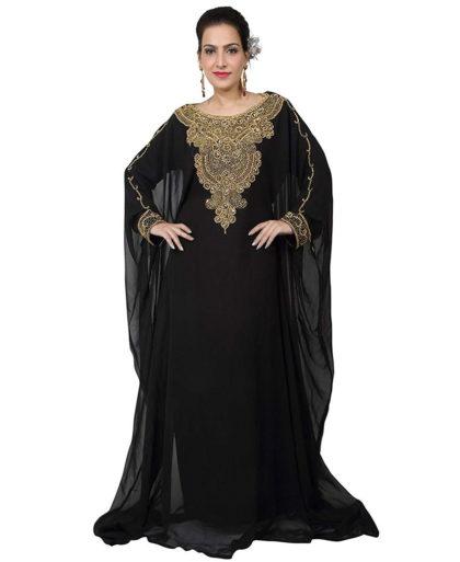 Women's Dubai Style Farasha Jalabiya Abaya Long Maxi Dress