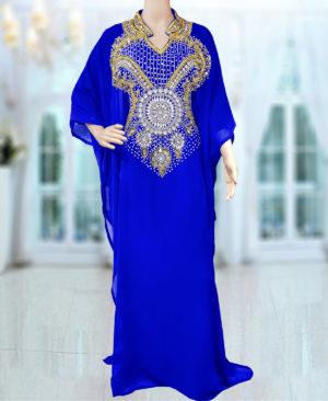 Modest Farasha – Half Sleeve Beaded Dubai Kaftan Dresses