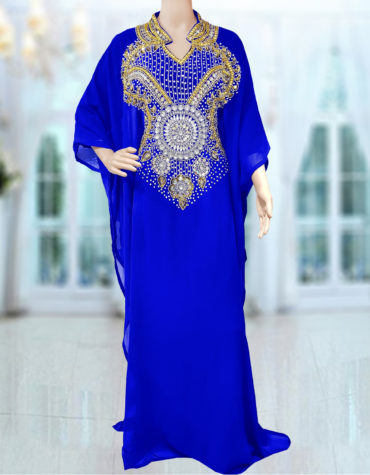 Modest Farasha – Half Sleeve Beaded Dubai Kaftan Dresses