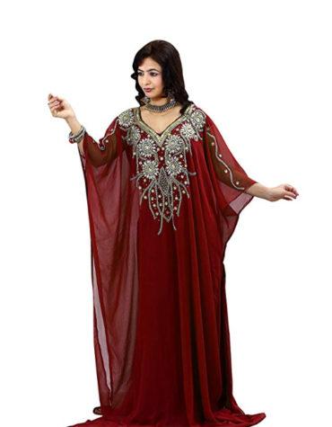 Farasha Jalabiya Abaya Long Women Dubai Kaftan