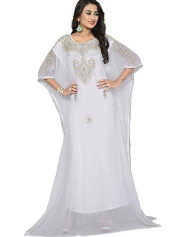 Elegant Moroccan Abaya Beautiful Dubai Chiffon Kaftan