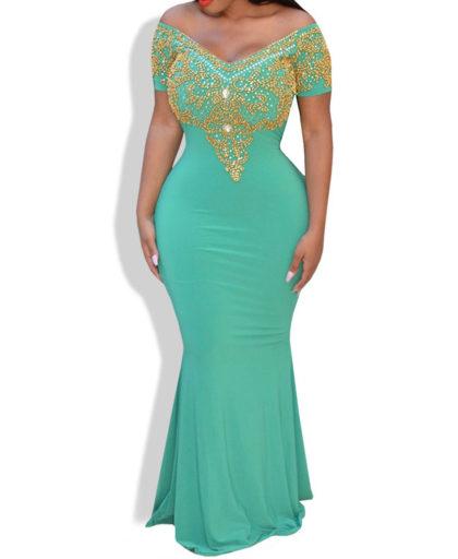 Ladies Fashion Exclusive Queen Off Shoulder Design Spandex Kaftan