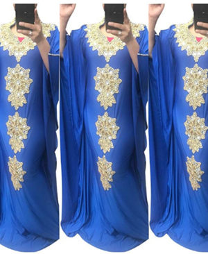 Party Wear Golden Morrocon Beads Spandex Dubai Kaftan