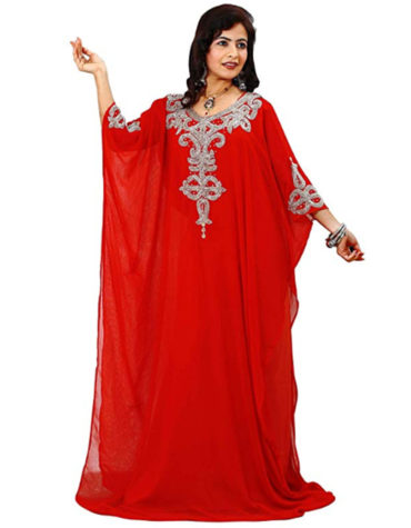 African Long Women Chiffon Dubai Kaftan