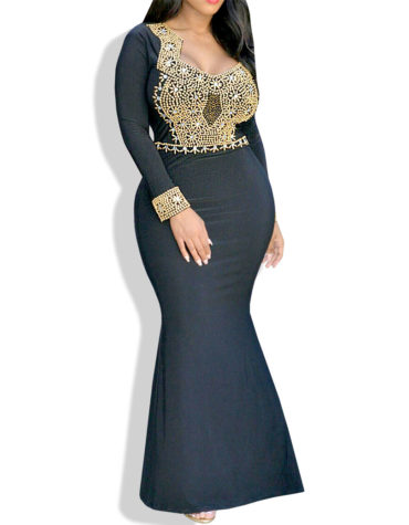 African Boutique Queen Nadine Dress - Black color