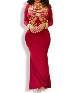 African Boutique PWomen'S Keyhole Open Chest Bodycon Stylish Dress