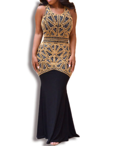 Fish Cut Sleeveless Mermaid Prom African Dresses